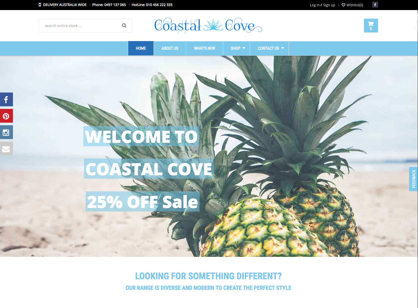 Coastal Cove Website Development